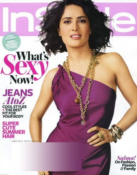 Salma Hayek: Instyle June 2010 Cover Girl