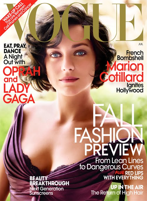 marion cotillard vogue magazine cover july 2010 fashion