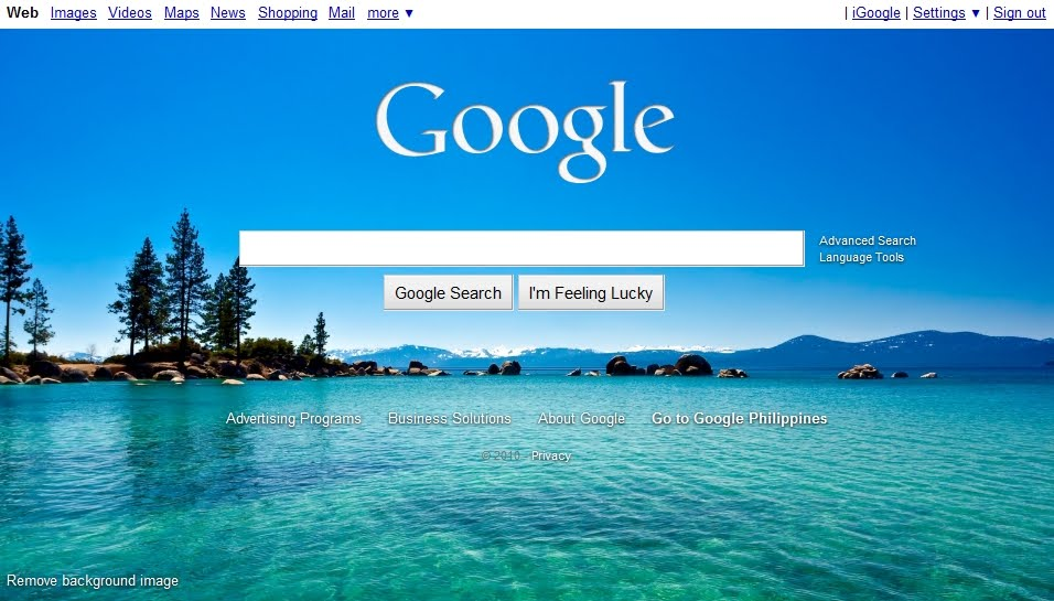 change google homepage background how to