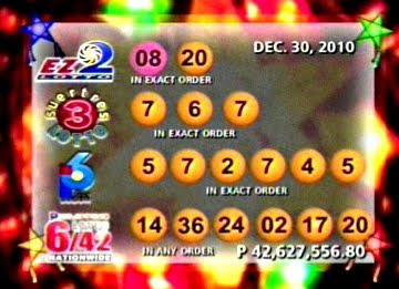 PCSO Dec 30, 2010 Lotto Draw Results