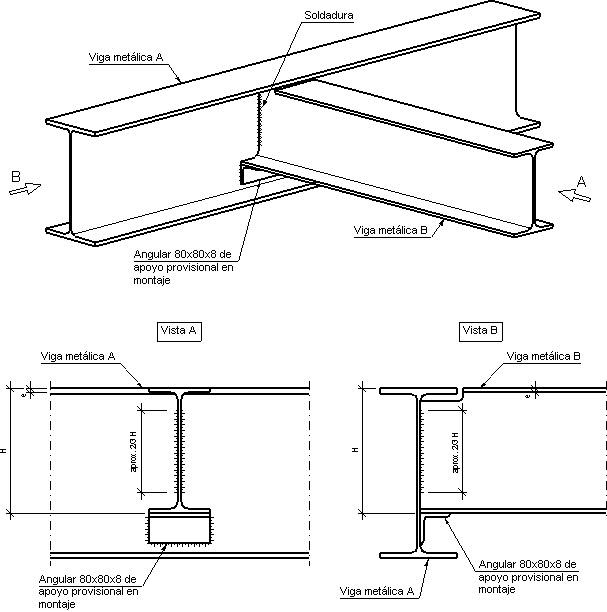 Construcciones ii f a d u u b a uni n viga viga - Tipos de vigas metalicas ...