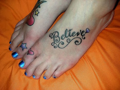believe tattoos on feet