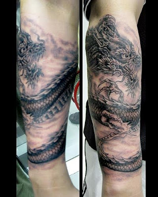Dragon Tattoo Face. chinese dragon tattoo sleeve.