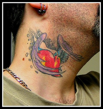 Tattoos Of Hearts For Men. small neck tattoos. Labels:
