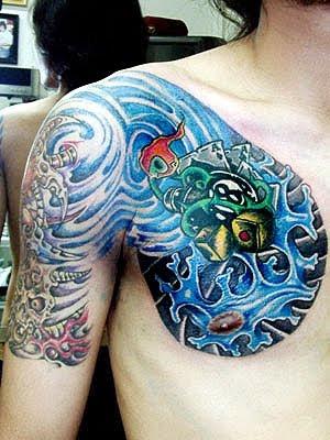 Label: tattoo dragão