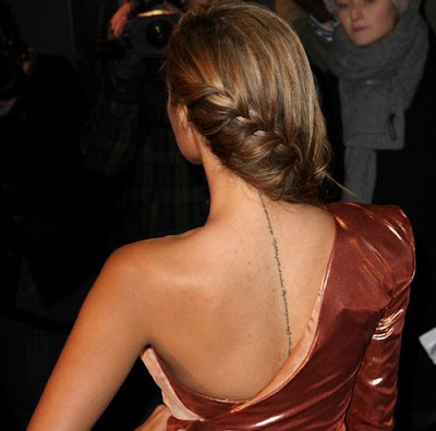 leona lewis tattoo on upper back