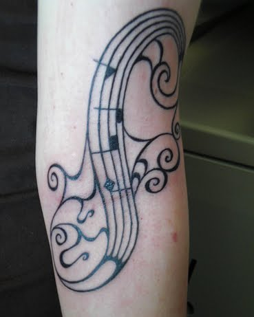 pics of music note tattoos. hair music notes tattoo tattoo