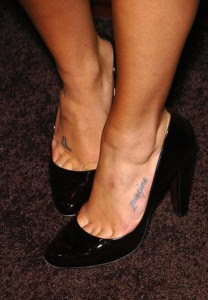 lea michele tattoos on feet