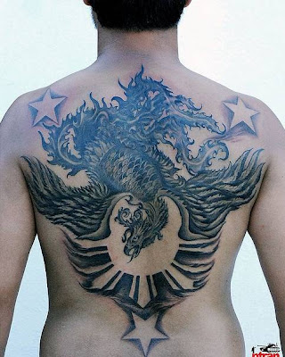 filipino tattoo designs. black bat tattoos design on