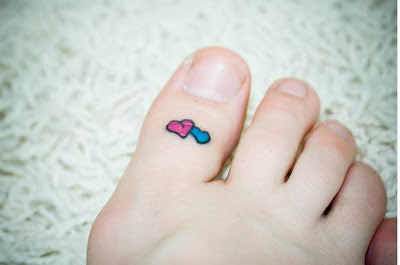 Heart Tattoo Designs on Foot Labels Heart Tattoos on Foot