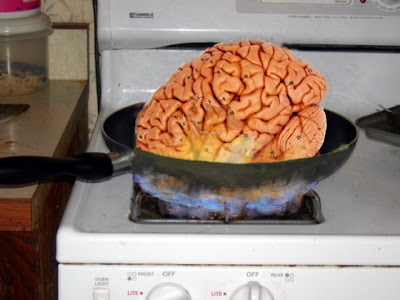 Karen's brain, frying