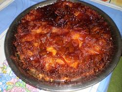 torta invertida de manzanas-