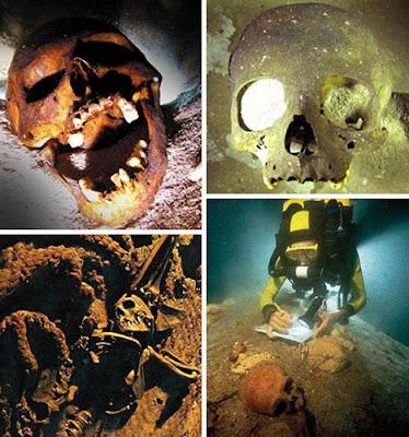 世界11大海底墳墓(八) 恐怖的海底人類骷髏
