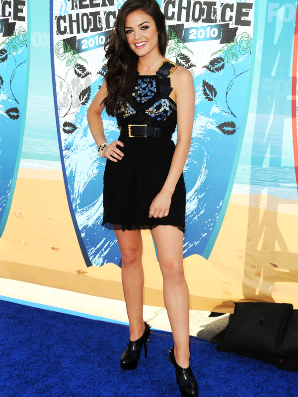 Lucy Hale's outfit look phenomenal but it's something. about those shoes!