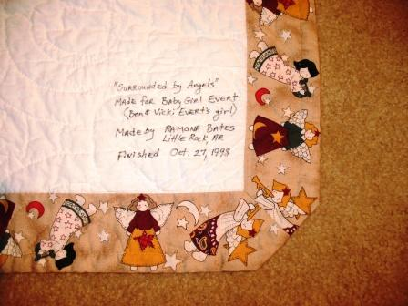 Sutured for a Living: Surrounded by Angels Baby Quilt : labels for baby quilts - Adamdwight.com
