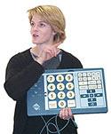 Image of Woman With Intellikeys Keyboard