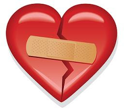 clipart of bandaged heart