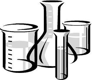 clipart of lab glassware