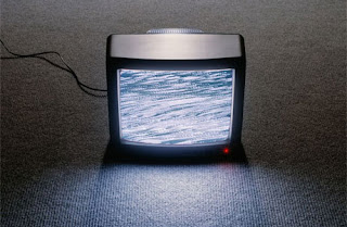 photo of static TV screen