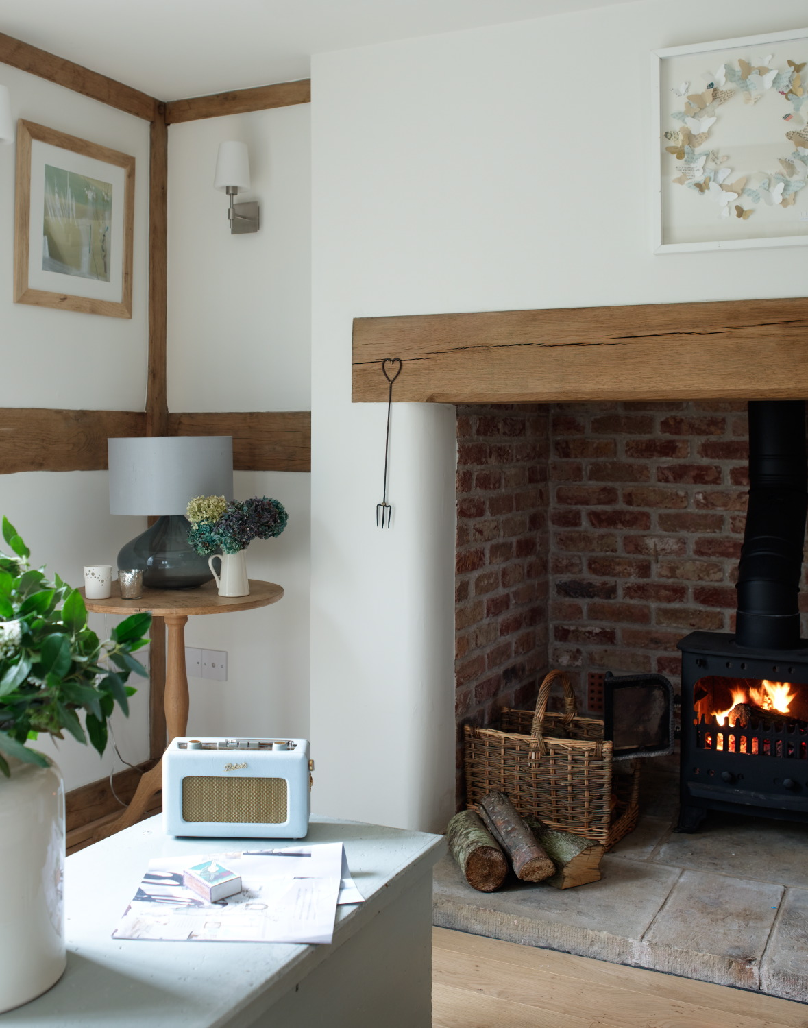 From little acorns no 2 for Open fireplace ideas
