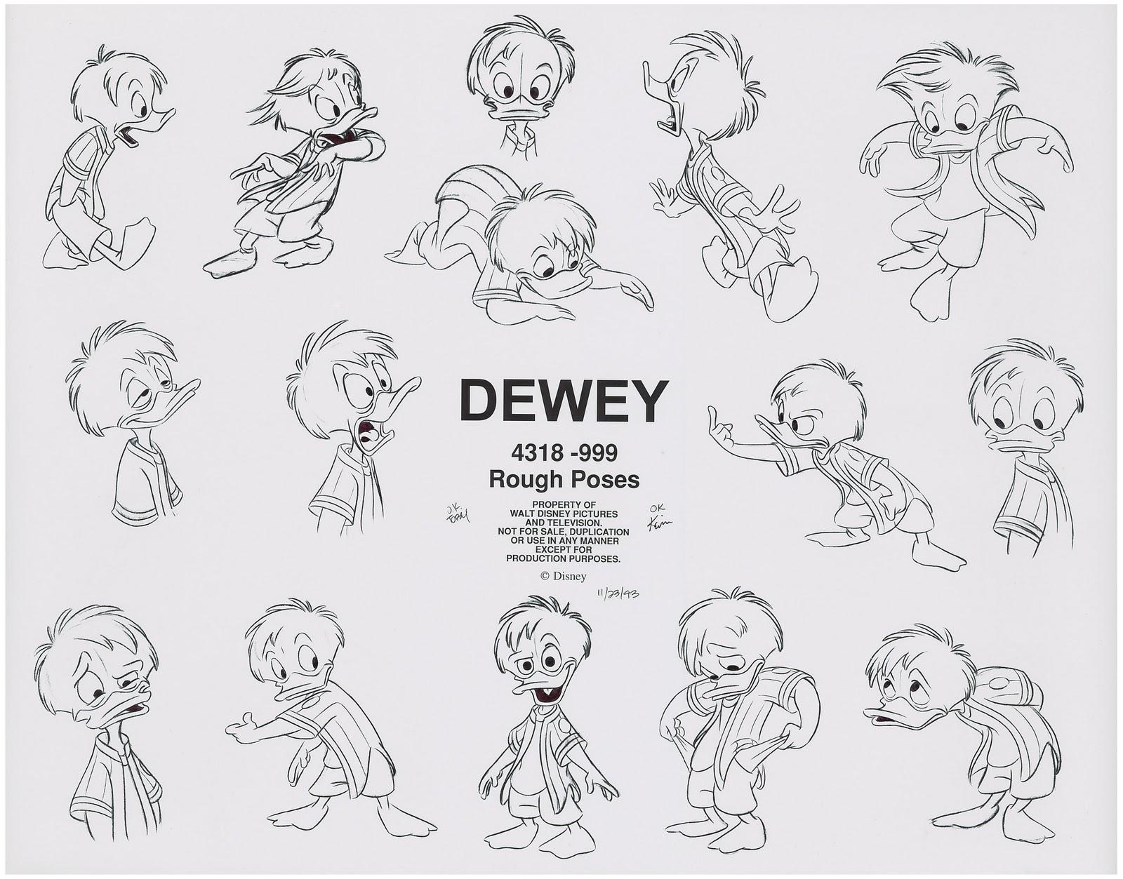 the animation woodpile  huey  dewey  u0026 louie model sheets