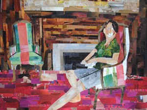 Reading Room by collage artist Megan Coyle