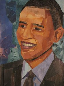 Barack Obama by collage artist Megan Coyle