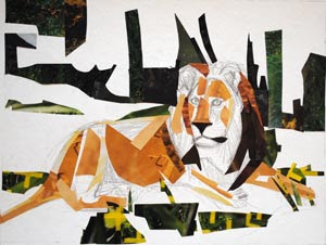 King of the Jungle by collage artist Megan Coyle
