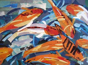 Goldfish Pond by collage artist Megan Coyle