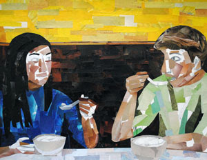 Dinner for Two by collage artist Megan Coyle