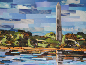 Washington Monument by collage artist Megan Coyle