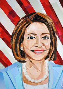Nancy Pelosi by collage artist Megan Coyle