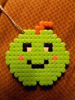 happy apple necklace