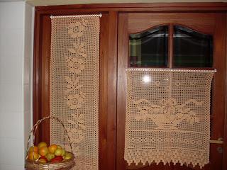 Lina 39 s tejidos cortinas y visillos Visillos para puertas
