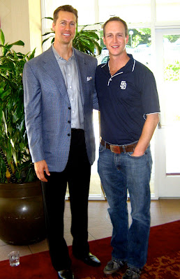 John Weisbarth and Bob Scanlan at Padres firts pitch luncheon