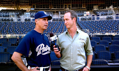 San Diego Padres Manager Buddy Black with John Weisbarth