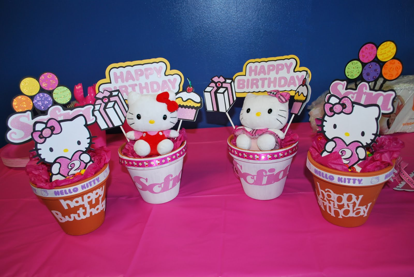 Hello Kitty Centerpieces For Birthday