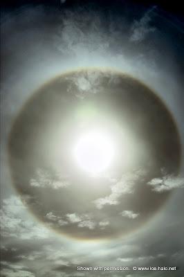 малое гало, полный круг вокруг солнца, 22 градуса, радуга