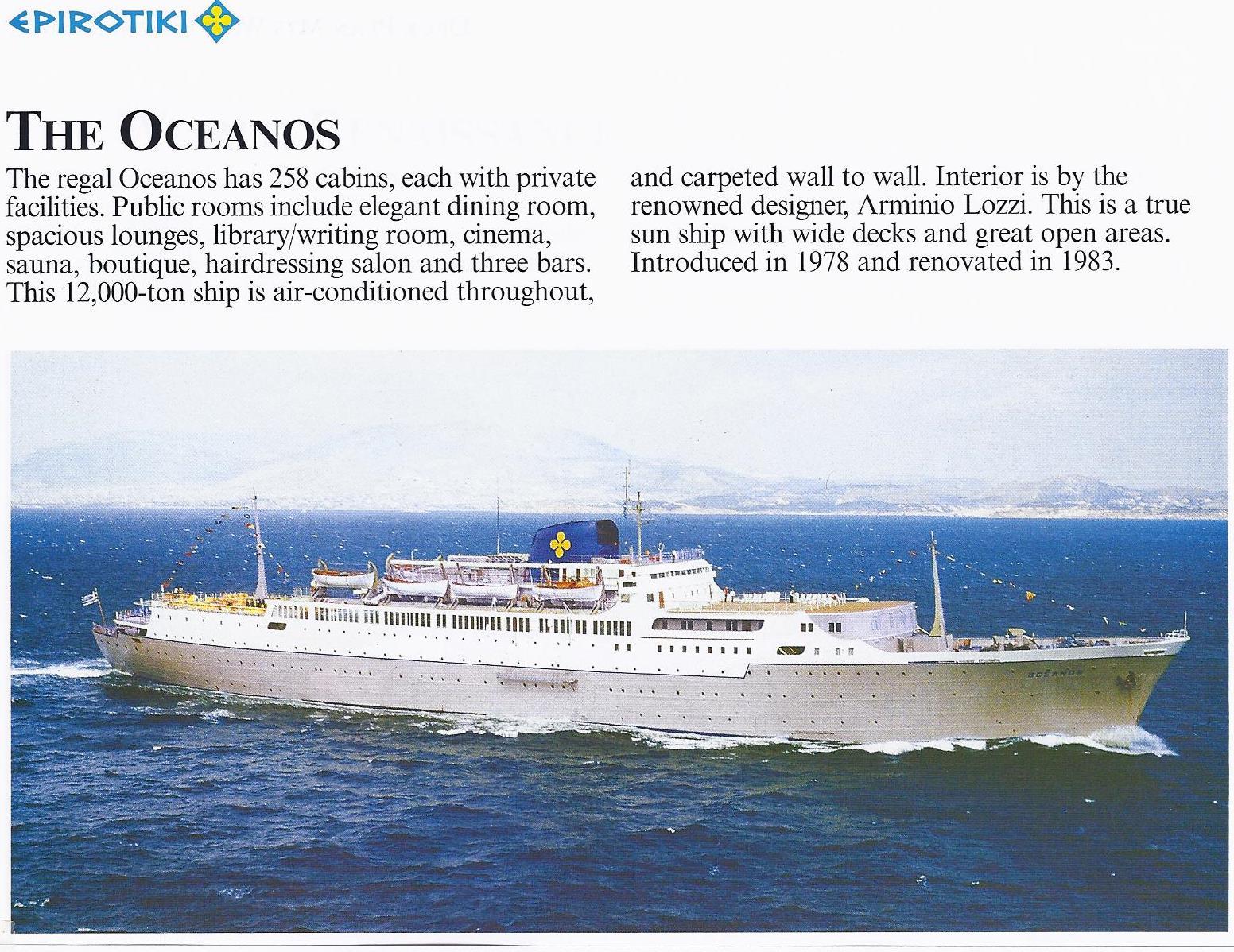 Feast Of Tabernacles Mediterranean Cruise The Ship - Sinking cruise ship oceanos