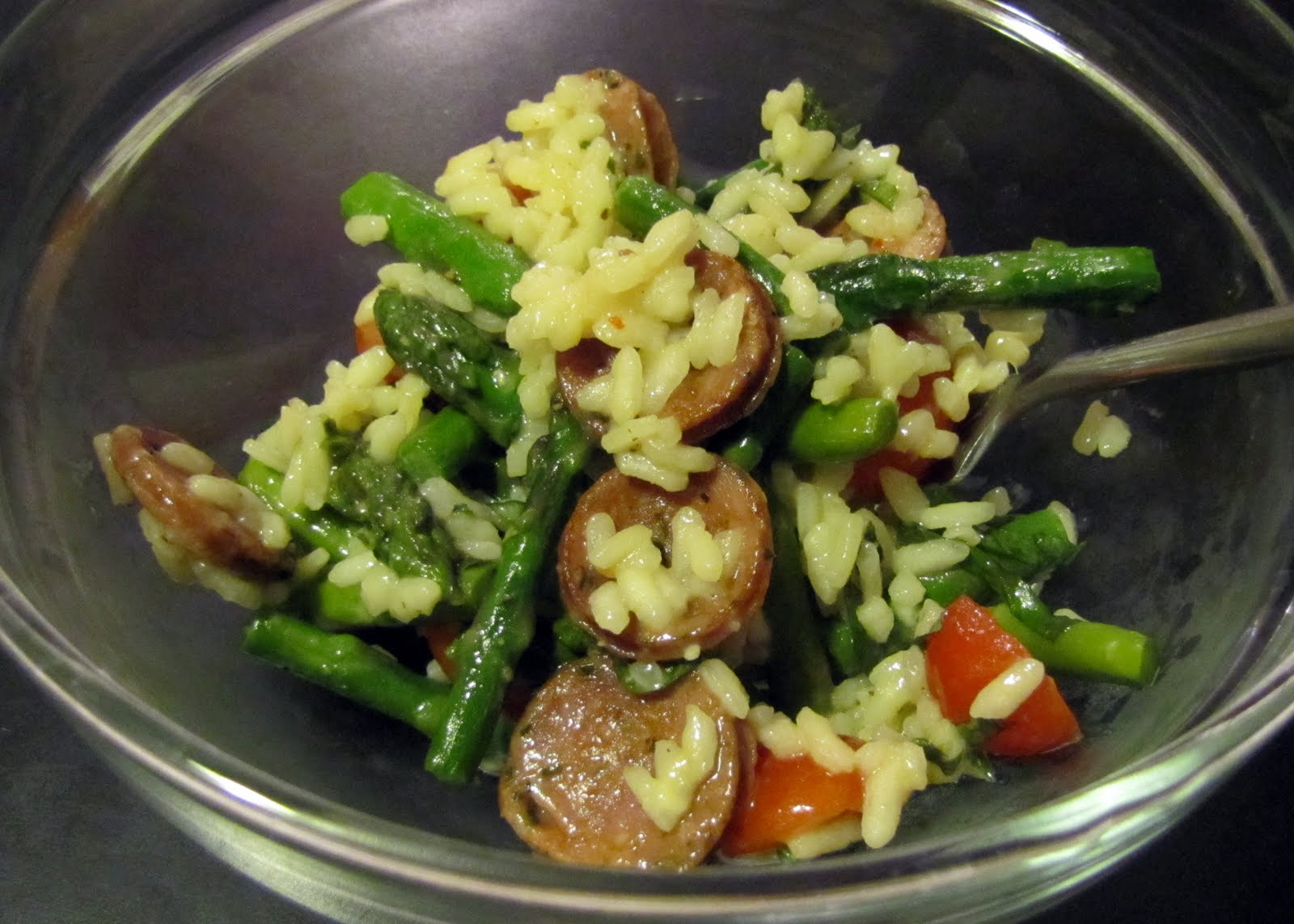 Smells Like Food in Here: Risotto with Sausage and Thick Asparagus