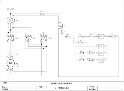 gambar rangkaian star delta biasanya disebut juga kontrol motor dengan ...