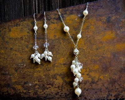 Custom Bridal Necklace & Earrings | Nicole Roloff