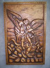 Angel San Miguel Tallado En Madera