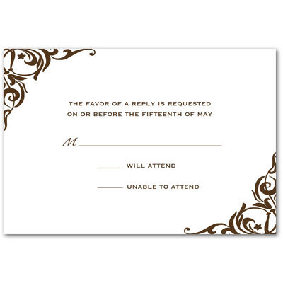 Wedding Reception Card on Reception Cards