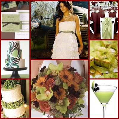 Brown and Green are great colors for a fall wedding