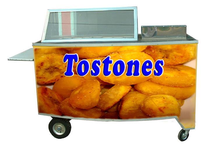 Carro para empanada, tostones, pastelitos
