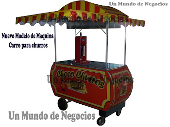 CARRO PARA CHURRO CON MAQUINA VERTICAL