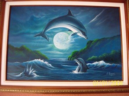 Delfines 21 al oleo $ 250.000