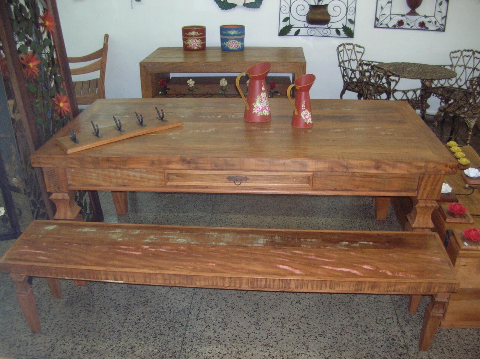 Artesanais: Mesa madeira de demolição 2 00 x 1 00 x 0 80 c/ gaveta #8D623E 1600x1197
