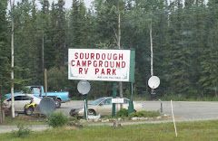 Leaving Sourdough RV Park, Tok, Alaska